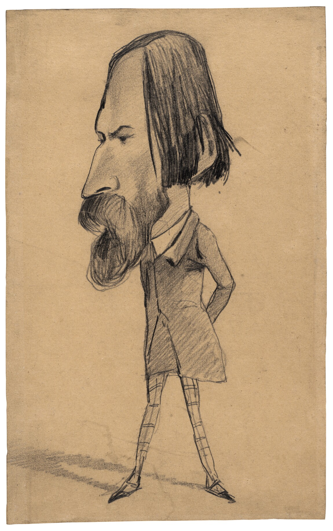 Noseresults How To Draw Cat 1 Caricature Of Auguste Vacquerie, C 1859 View  Larger Image