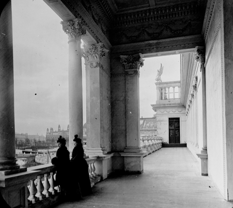 Exterior of the Woman's Building at the World's Columbian Exposition, 1893. Art Institute of Chicago Archives. [138248]