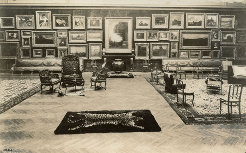 Interior of Mrs. Potter (Bertha Honoré) Palmer's picture gallery in her home at 1350 North Lake Shore Drive. Art Institute of Chicago Archives.