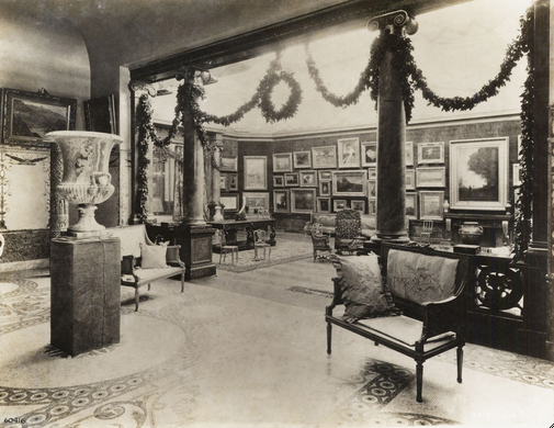 Interior of Mrs. Potter (Bertha Honoré) Palmer's picture gallery in her home at 1350 North Lake Shore Drive.